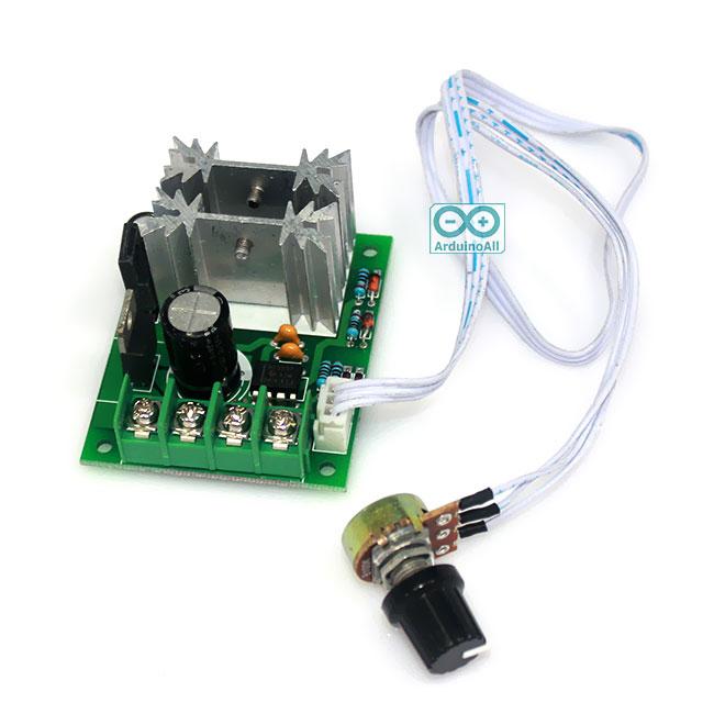 PWM DC-Motor Speed Controller 6V 12V 24V Stepless Switch 10A Peak 20A