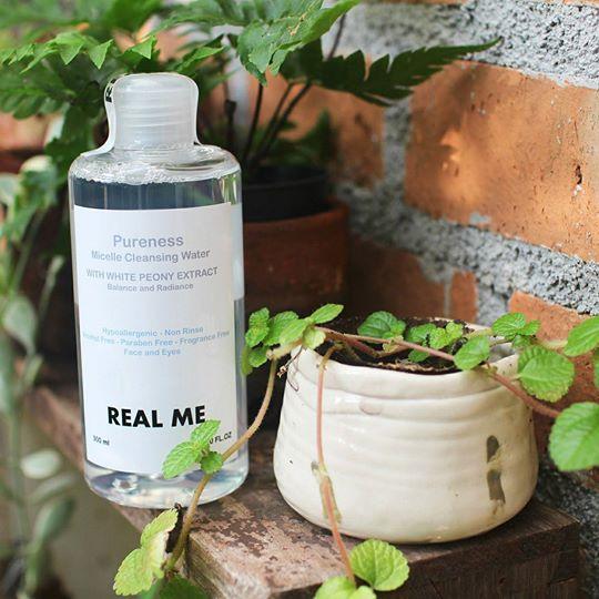 REAL ME Pureness Micelle Cleansing Water with White Peony Extract คลีนซิ่งหน้านุ่ม ล้างเครื่องสำอางได้หมดจด