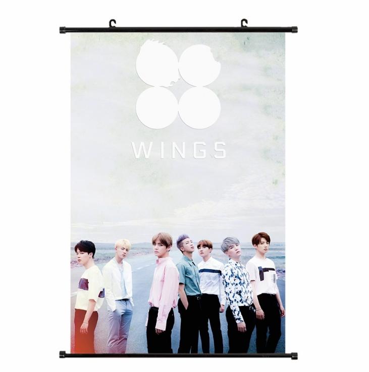 ไวนิลแขวนฝาผนัง (40x60cm) BTS WINGS