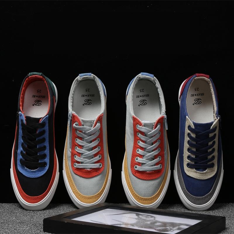 *Pre Order*รองเท้าแฟชั่นแนวSport ซิปข้าง สำหรับผู้ชายสไตล์เกาหลี/ size 39-44