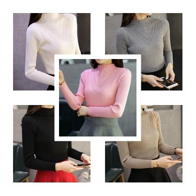 เสื้อแขนยาวแฟชั่นสุด cool ใส่กับกระโปรงหรือกางเกงก็ง่าย ผ้านิ่ม เข้ารูป กระชับทุกรูปทรง