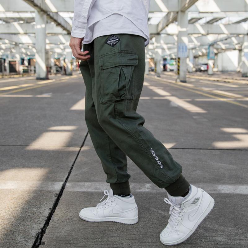 *Pre Order*Personality Japan กางเกงลำลองขาจั๊มแฟชั่นชาย/สีเขียว/สีดำ size M-2XL