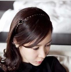 ที่คาดผมรูปใบcoverเกาหลีสีดำ