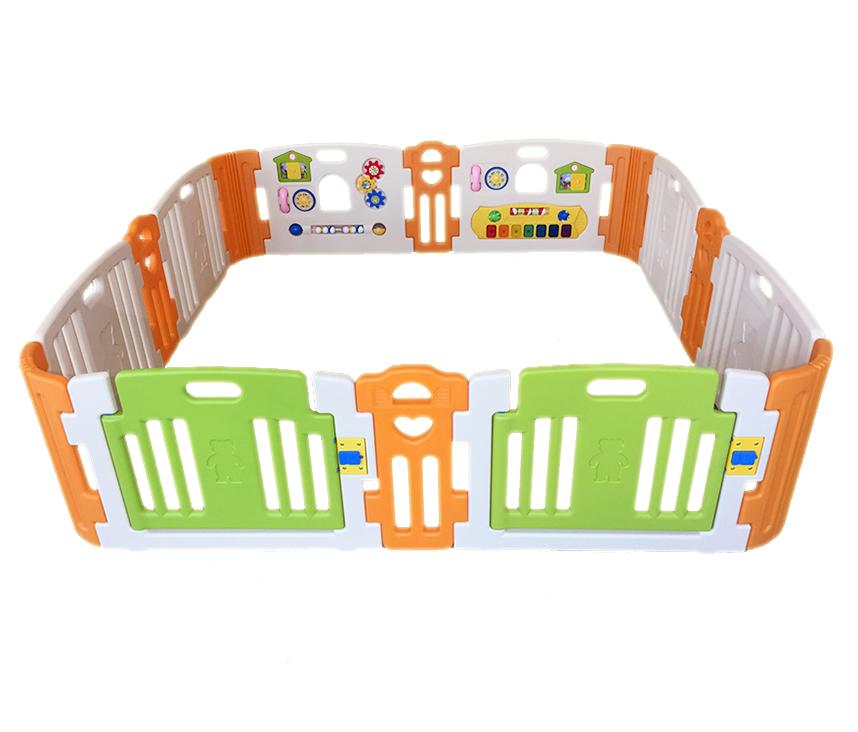 คอกกั้นเด็ก Haenim new สีเบส รุ่น Melody+ Playgame ไซร์ L