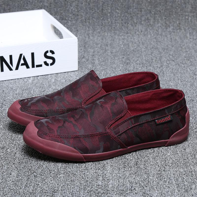 *Pre Order*รองเท้าผ้าใบแฟชั่นแบบสวมสำหรับผู้ชายสไตล์เกาหลี/ size 39-44