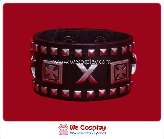 สร้อยข้อมือพังค์ Punk Wristband ตอกหมุดกางเขนและหมุดเหลี่ยม