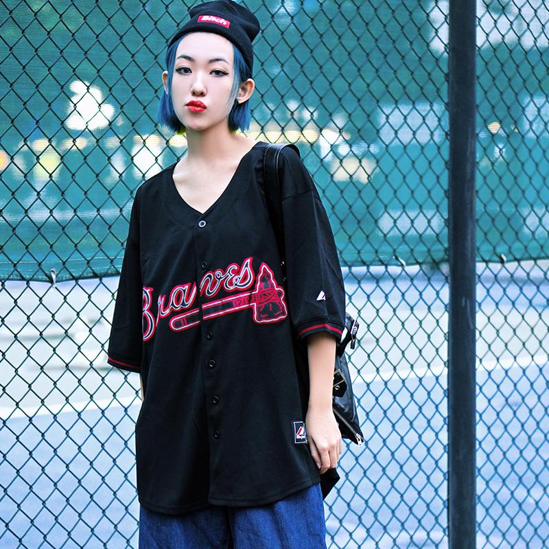 *Pre Order*เสื้อกีฬาเบสบอล,Sports Casual Baseball Cardigan Harajuku BF/ญี่ปุ่น size 48,50,52,54,56