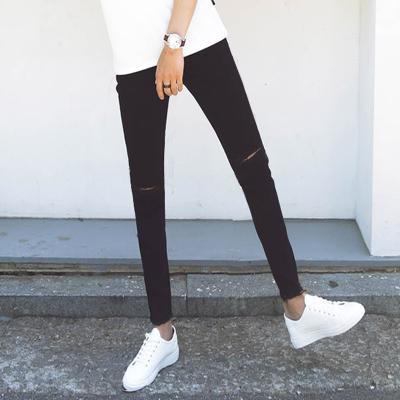 *Pre Order*Denim Slim feet กางเกงยีนส์ผ้ายืด/ทรงกระบอกเล็ก size 27-34