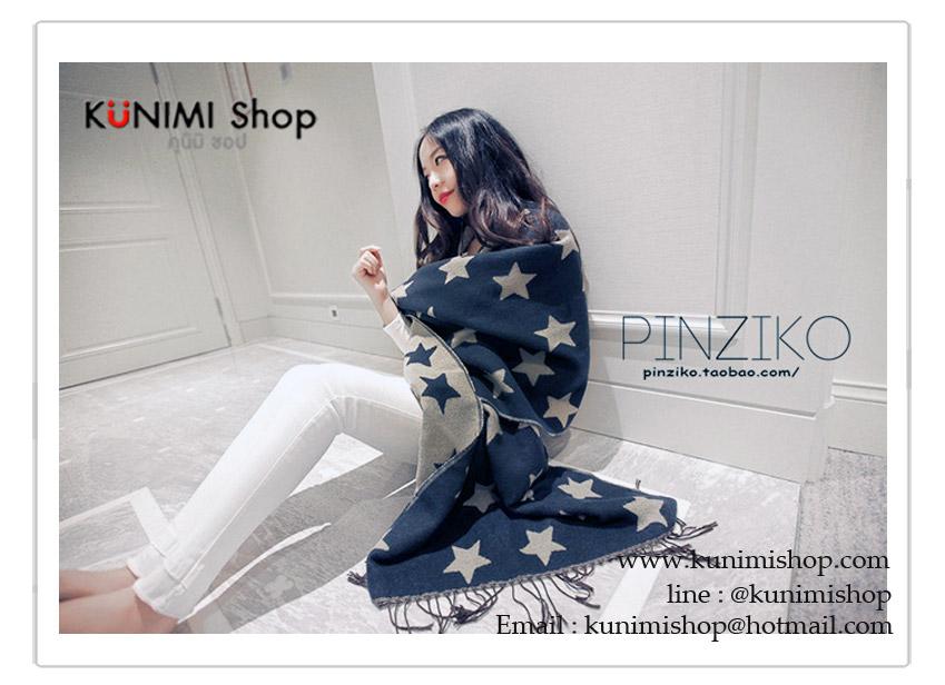 PR077 ผ้าพันคอแฟชั่น ผ้าขนสัตร์(เทียม) พิมพ์ลายสวย หนานุ่ม อย่างดี งานสวยคะ ขนาด กว้าง 60 ยาว 200 cm.