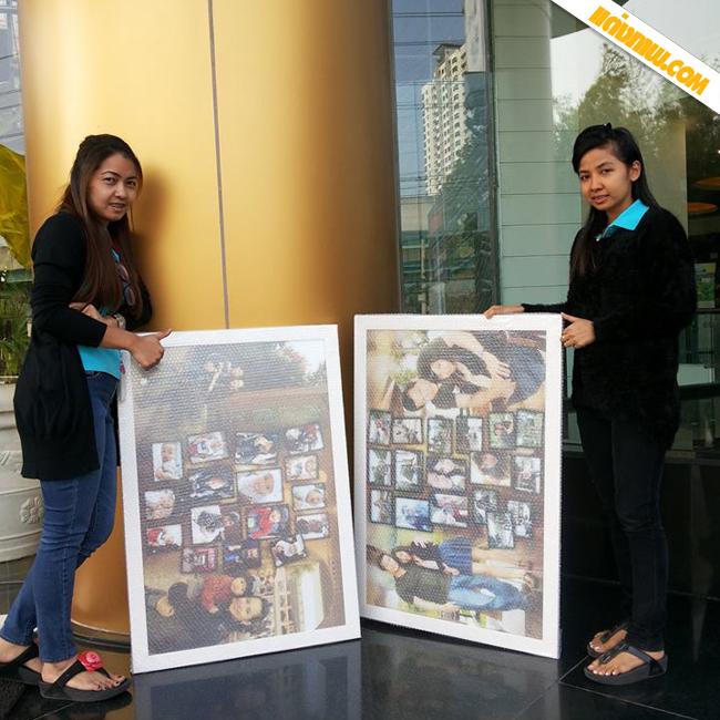 ภาพรีวิวจากลูกค้า ภาพโฟโต้มิ๊กซ์ 24x36 นิ้ว กรอบกระจก