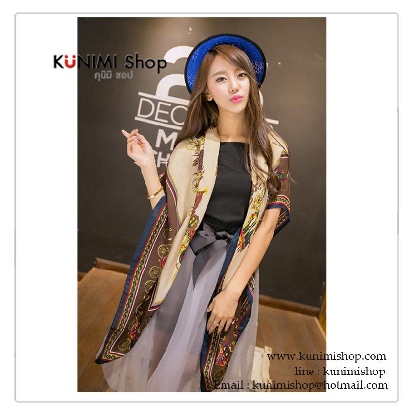 ผ้าพันคอ แฟชั่น พิมพ์ลายสวย สามารถใช้พันคอ คลุมไหล่ สวยดูดี ใช้ได้ทุกโอกาส ขนาด : ยาว 180 กว้าง 90 cm. ผ้า : ไหม