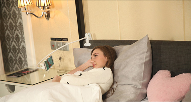 ที่จับยึดโทรศัพท์มือถือ ช่วยจับมือถือ ไม่ต้องถือเองให้เมื่อยมือ สำหรับนอนเล่น นั่งเล่น นานๆ