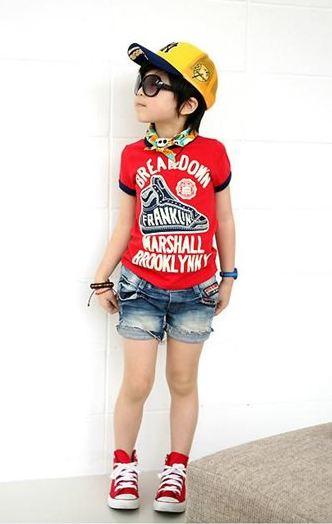 HOTPET เสื้อยืดคอกลมนำเข้า สีแดง BREAKDOWN น่ารัก แนวๆสไตล์เกาหลีจร้า ขนาด100