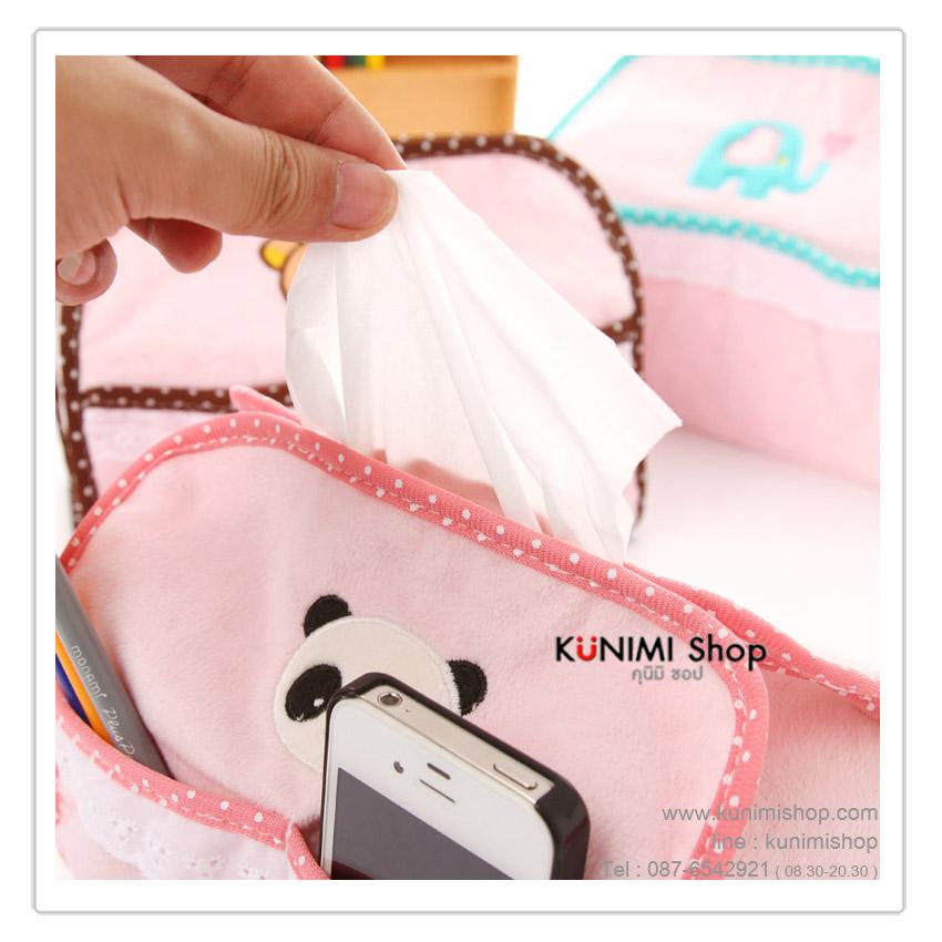 ปลอกซองผ้าคลุมกล่องกระดาษชำระ(ทิชชู) ลายการ์ตูนน่ารัก ประดับตกแต่งห้อง ขนาด : 20 x 11.5 x 16 ซม.