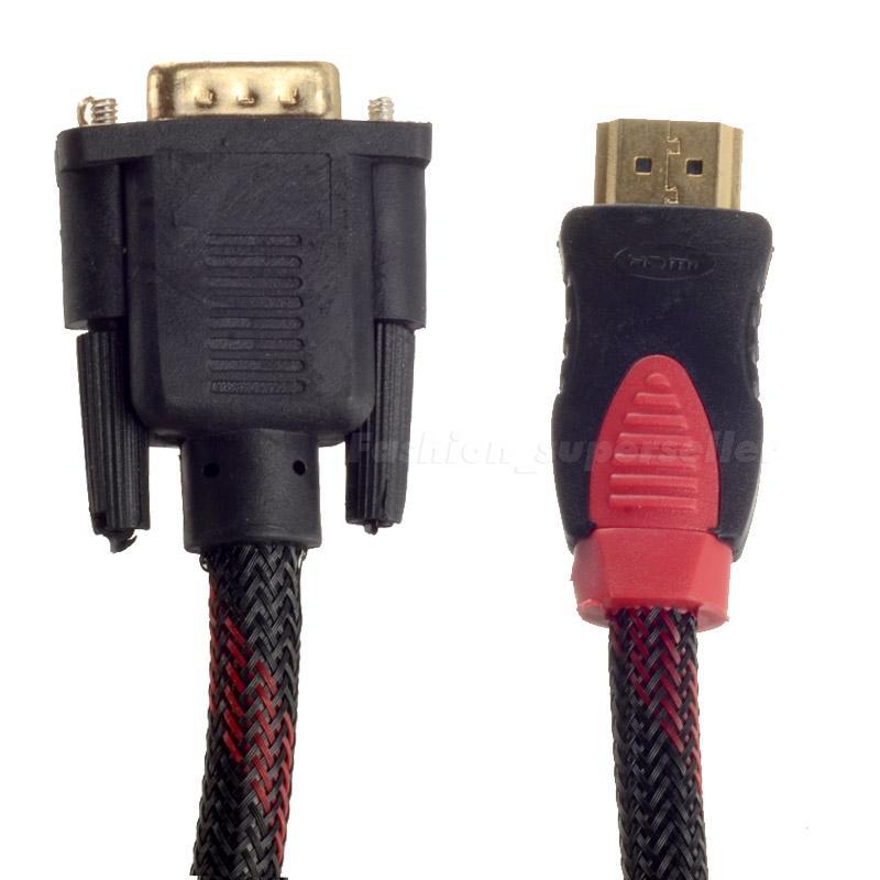 Cable HDMI TO VGA 1.8M สายถัก