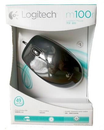 USB Optical Mouse LOGITECH (M100R) Black