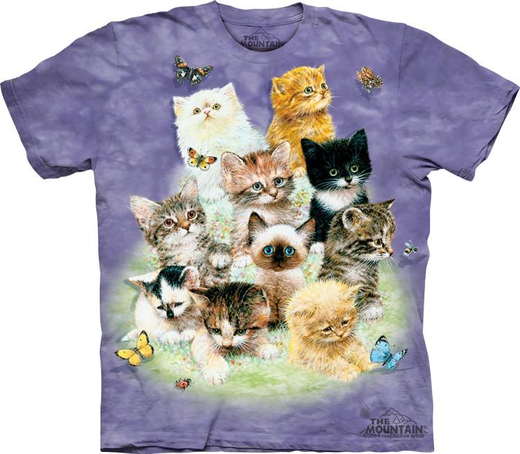 Pre.เสื้อยืดพิมพ์ลาย3D The Mountain T-shirt : 10 Kittens