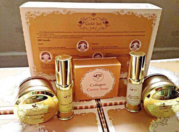 (ส่งฟรีEMS)Freshy Face Gold Set ครีมถุงทองหน้าใส