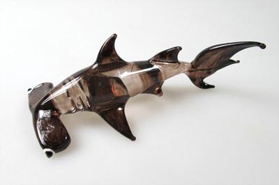 ปลาฉลามหัวฆ้อนแก้วเป่า Glass Figurine Hammer Shark