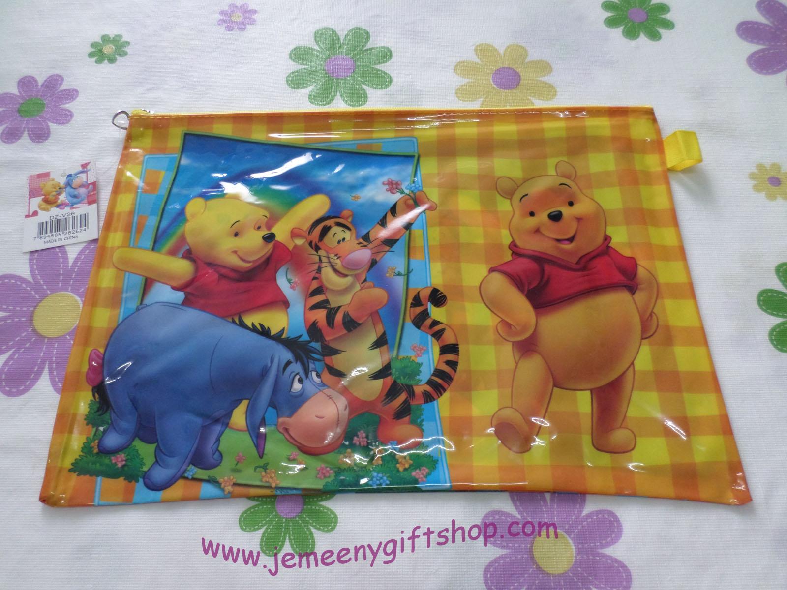 กระเป๋าซองใส่เอกสาร A4 หมีพูห์และเพื่อน Pooh ขนาดยาว 13.5 นิ้ว * สูง 9 นิ้ว