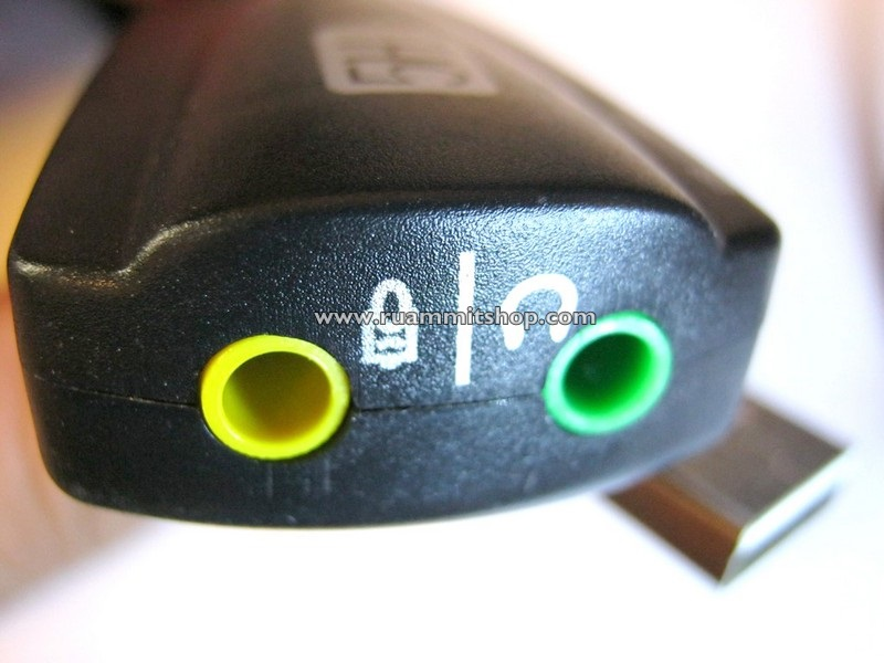 USB External Sound Card (Virtual 7.1) แบบมีสาย
