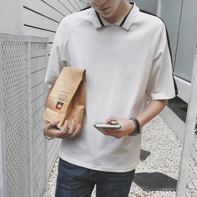 เสื้อแฟชั่นเกาหลี แต่งคอปกเสื้อ ดีไซน์เรียบสวย มี2สี