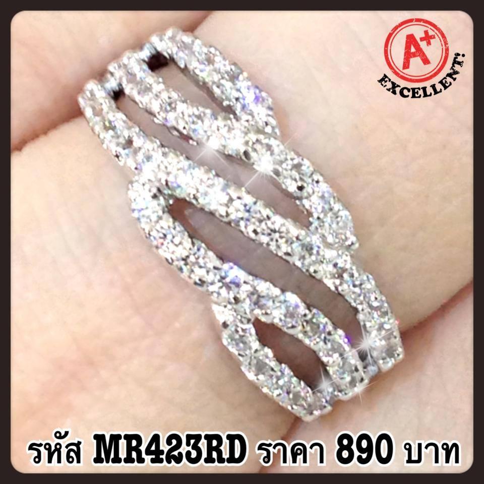 แหวนเพชร CZ รหัส MR423RD size 53