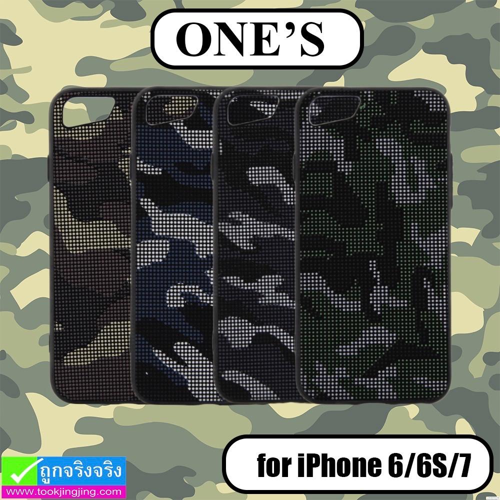 เคส iPhone 7,6,6S ONE'S ลายพราง ราคา 140 บาท ปกติ 350 บาท