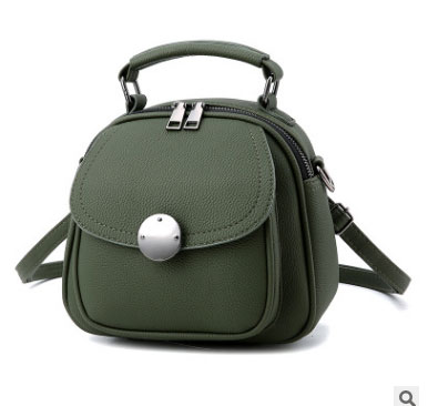 พร้อมส่ง กระเป๋าเป้สะพายหลังผู้หญิงใบเล็ก ปรับสะพายข้างได้ แฟชั่นเกาหลี รหัส Yi-2501 สีเขียวทหาร 1 ใบ