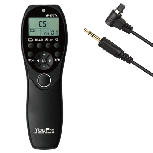 YouPro Wired Timer Remote YP-880/N3 for Canon 7D, 6D, 5D, 5D MKII, 5D MKIII, 1DX, 1Ds, 1Ds MKII, 1Ds MKIII, 1D MKIV, 1D MKIII, 1D MKII
