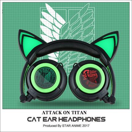 หูฟังแมว Attack on titan cat ear headphone