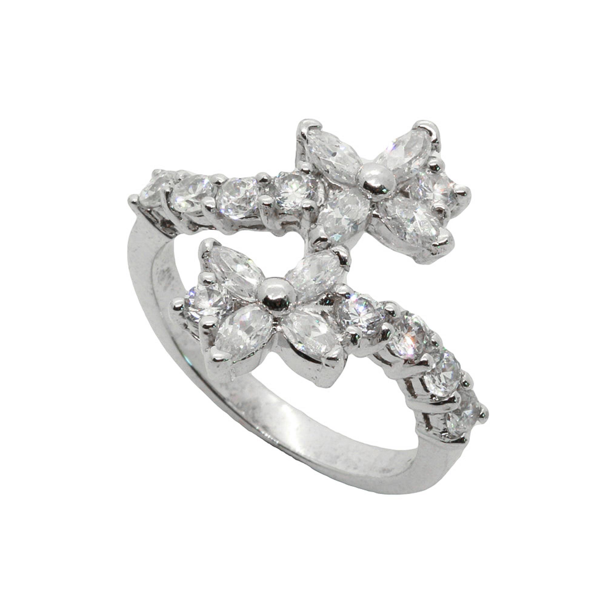 แหวนเพชรCZ หุ้มทองคำขาวแท้ ไซส์ 51