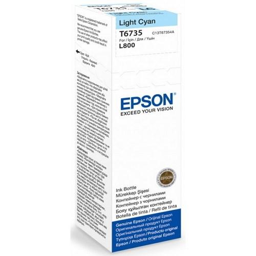 Epson T673500 น้ำหมึกเติมแบบขวด สีฟ้าอ่อน Light Cyan Original Ink Bottle 70ml ของแท้