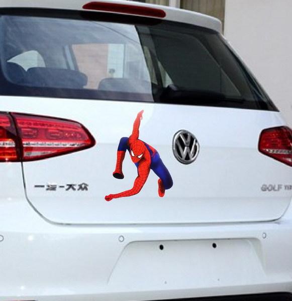 สติ๊กเกอร์ติดรถยนต์ Spider Man 20x15 CM