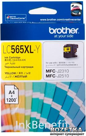 Brother LC-565XLY ตลับหมึกอิงค์เจ็ท สีเหลือง Yellow Original Ink Cartridge