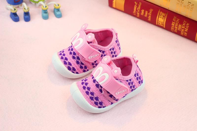 รองเท้าเด็กอ่อน 0-12เดือน รองเท้าเด็กชาย เด็กหญิง สีชมพู