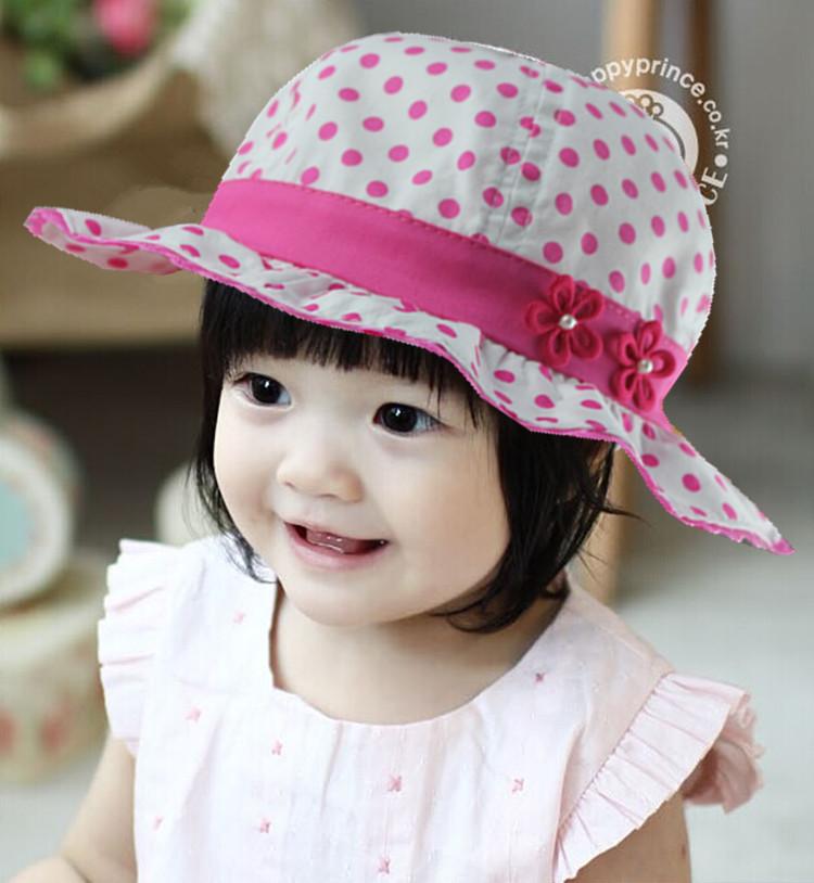 หมวกปีกเด็กผู้หญิงลายจุดขาวสีชมพู ด้านหลังเป็นยางยืดผูกโบว์ สำหรับเด็ก1-6เดือนน่ารักมากๆค่ะ