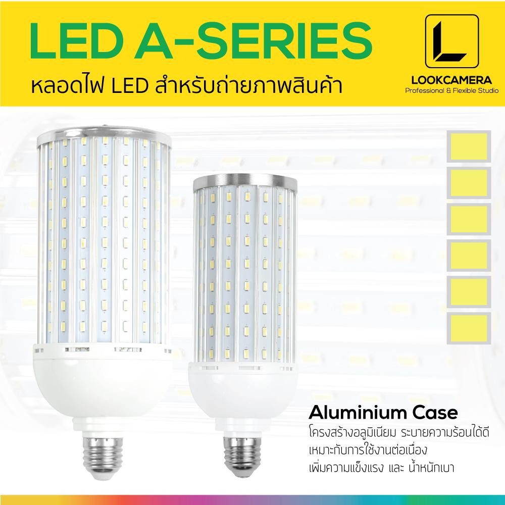 LED A-SERIES หลอดไฟอลูมิเนียม LED เน้นการใช้งานต่อเนื่อง