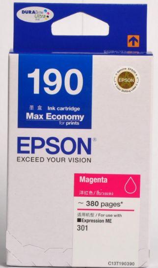 Epson T190390 หมึกพิมพ์อิงค์เจ็ต สีม่วงแดง Magenta Original Ink Cartridge