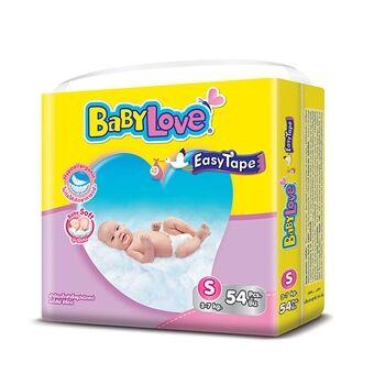แพมเพิส ปลีก ส่ง ราคาถูก BabyLove ไซส์ S (54 ชิ้น) ส่งฟรี