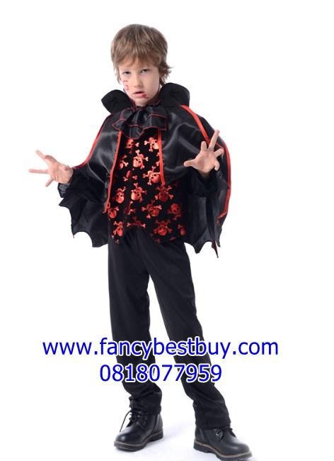 ชุดแฟนซีเด็ก แวมไพร์ Evil Vampire สำหรับวันฮาโลวีน มีขนาด S, M, L, XL