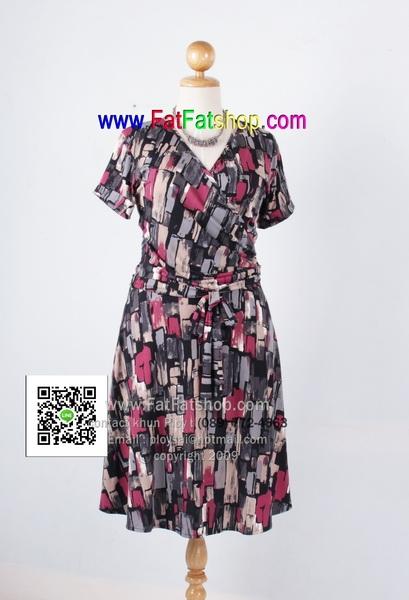f039-45-50-ชุดทำงาน ผ้าเกาหลีพิมพ์ลาย แขนสั้น ช่วงตัวเสื้อดีไซส์ป้าย ซับในทั้งตัว สวยๆใส่สบายๆค่ะ รอบอก 38 - 46 นิ้ว