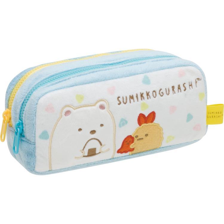 กระเป๋าดินสอ 2 ซิป Sumikko Gurashi สีขาว