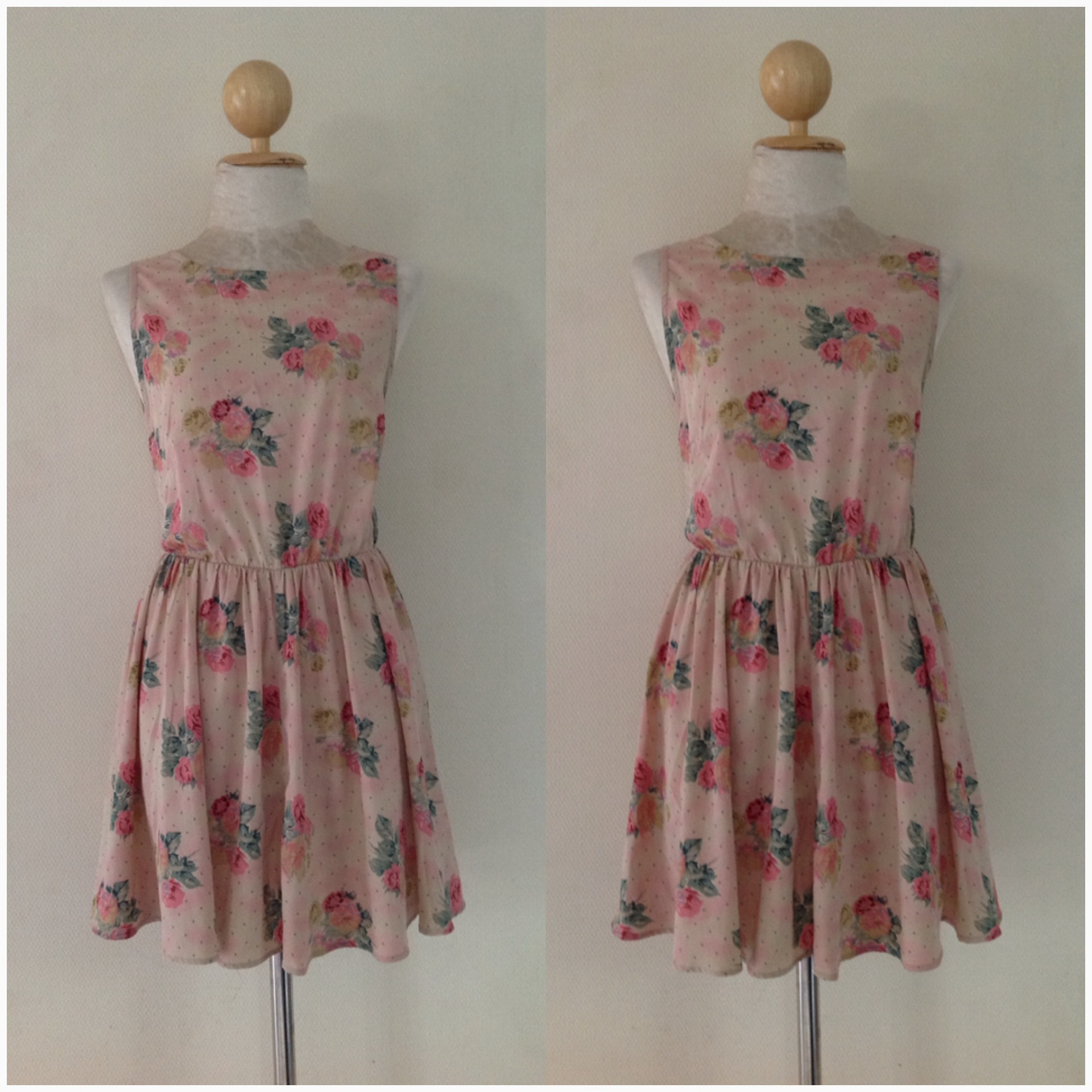 Topshop Floral Rose Dress