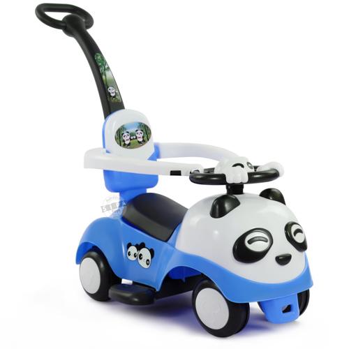 รถขาไถแพนด้า 2 in 1 (รถขาไถ +รถเข็น)สีฟ้า ฟรีค่าจัดส่ง