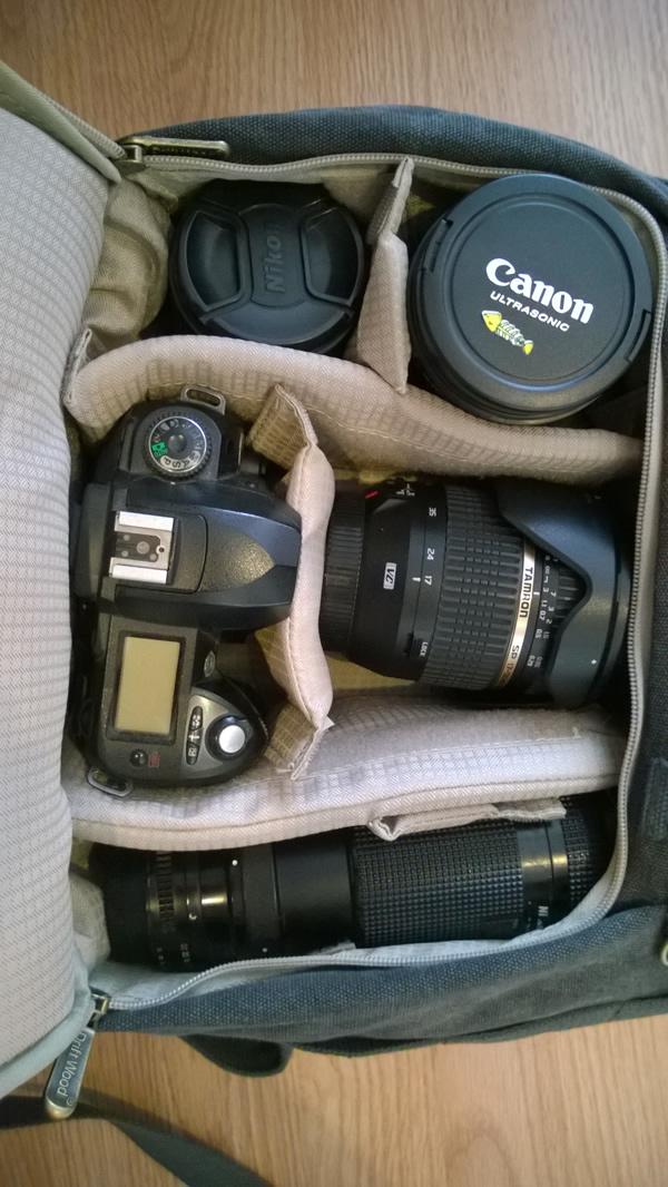 การจัดอุปกรณ์กล้องลงกระเป๋ากล้อง driftwood 7610
