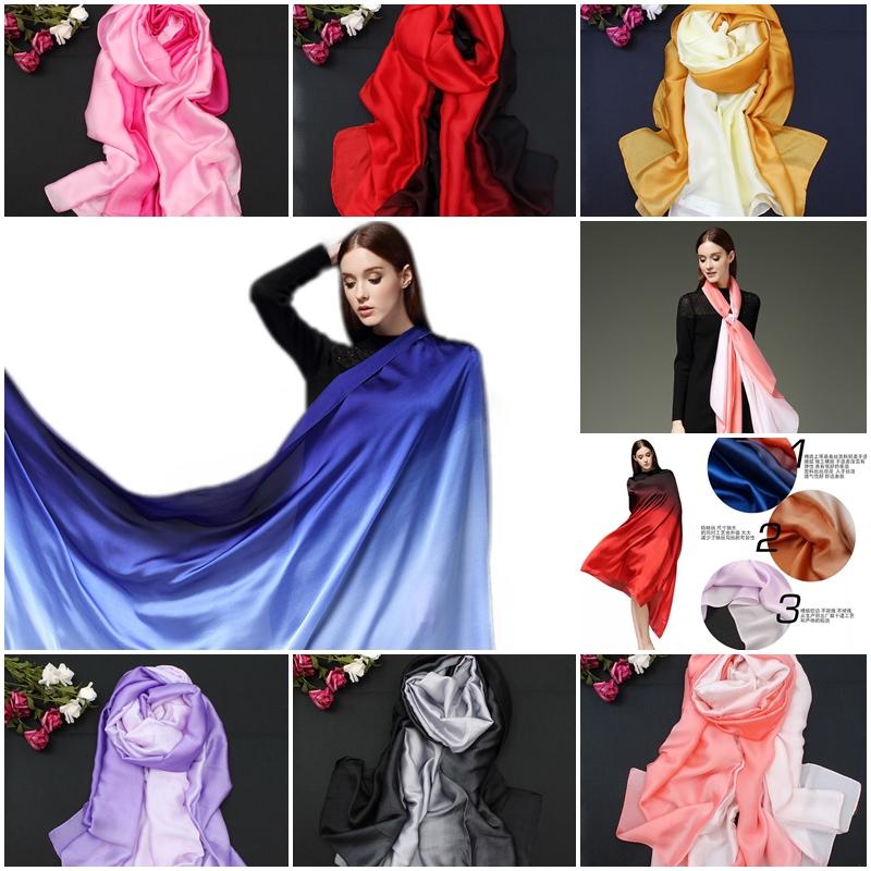 ผ้าพันคอ Colour Gradient Silk