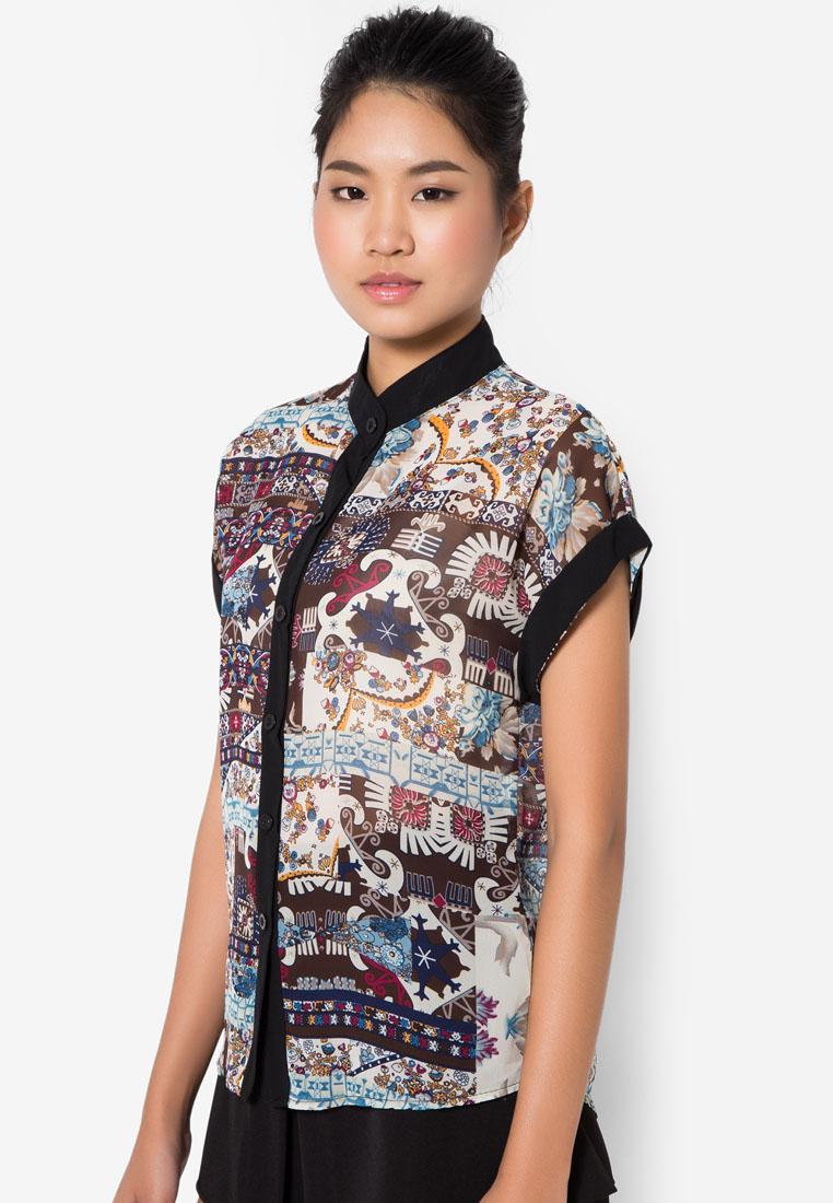 เสื้อเชิ้ต Ethnic Roll Up Sleeves