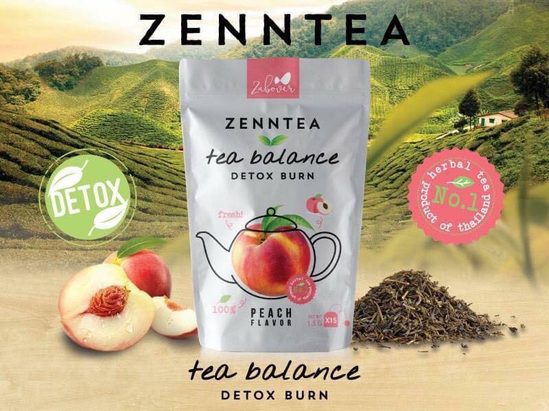 Zenntea Tea Balance Detox Burn by Zabover ชาสมุนไพร ดีท็อกซ์